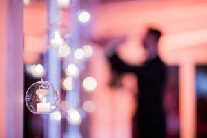 candele usate per allestimento matrimonio