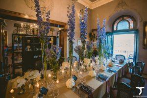 allestimento mise en place tavolo imperiale ristorante la gardenia Castel gandolfo